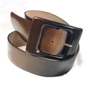 NWT Ann Taylor thick ombré brown copper belt M